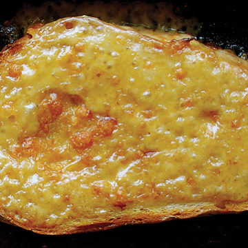Welsh rarebit with laverbread and ale